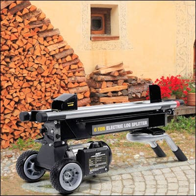 Goplus New 1500W 6 Ton Electric Hydraulic Log Splitter review