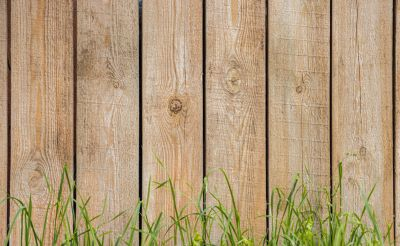 non-pressure treated wood fence outside