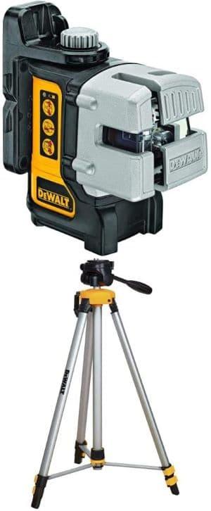 DEWALT DW089K Self Leveling 3 Beam Line Laser, Black with DW0881T Laser Tripod review